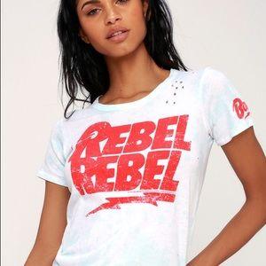 Chaser tie dye rebel rebel crew neck tee